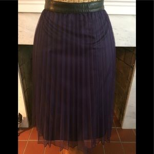 Vintage 90's DKNY Purple Pleated Sheer Skirt